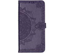 Mandala Booktype-Hülle Violett für das Motorola One Zoom