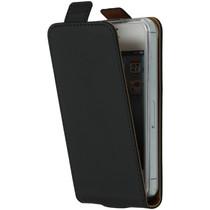 Selencia Luxus TPU Flipcase Schwarz für das iPhone 4 / 4s