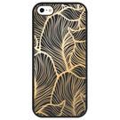 Golden Leaves Design Silikonhülle für das iPhone SE / 5 / 5s