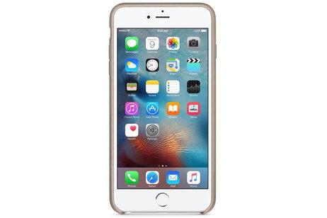 iPhone 6(s) Plus hülle - Apple Leder-Case Grau für