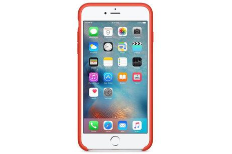 iPhone 6(s) Plus hülle - Apple Silikon-Case Orange für