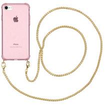 iMoshion Glitter Backcover mit Kette für das iPhone SE (2020) / 8 / 7