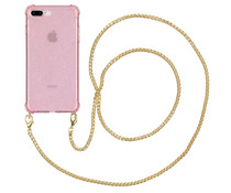 iMoshion Glitter Cover mit Kette iPhone 8 Plus / 7 Plus / 6(s) Plus