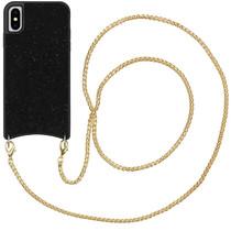 iMoshion Sparkle Cover mit Kette Schwarz für das iPhone Xs / X