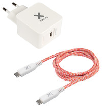 Xtorm AC Adapter USB-C + USB-C kabel Power Delivery - 18 Watt