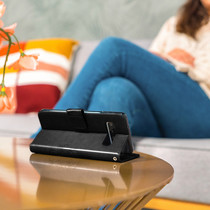 Kleeblumen Booktype Hülle Schwarz für Huawei P20 Lite