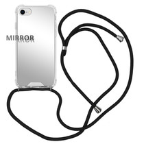 iMoshion Mirror Backcover mit Band Silber iPhone SE (2020) / 8 / 7