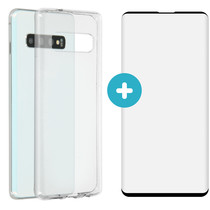 iMoshion Softcase Backcover + Premium Screen Protector Galaxy S10