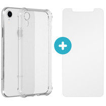 iMoshion Anti-Shock Backcover + Glass Screen Protector iPhone Xr