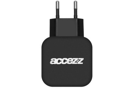Accezz Double USB Adapter 4.8A - Schwarz