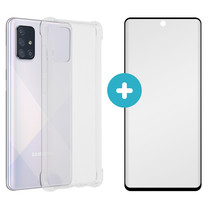 iMoshion Anti-Shock Backcover + Premium Screen Protector Galaxy A71