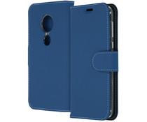 Accezz Wallet TPU Booklet Dunkelblau für das Motorola Moto G7 Play