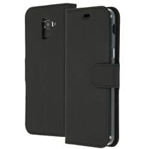 Accezz Wallet TPU Booklet Schwarz für das Samsung Galaxy J6