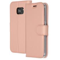Accezz Wallet TPU Booklet für das Samsung Galaxy S7 - Roségold