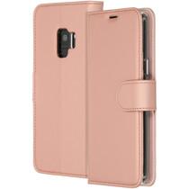 Accezz Roségoldfarbenes Wallet TPU Booklet für das Samsung Galaxy S9
