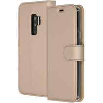 Accezz Goldfarbenes Wallet TPU Booklet Samsung Galaxy S9 Plus