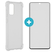 iMoshion Anti-Shock Backcover + Premium Screen Protector S20 Plus