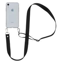 iMoshion Backcover mit Band - Nylon Schwarz für das iPhone Xr