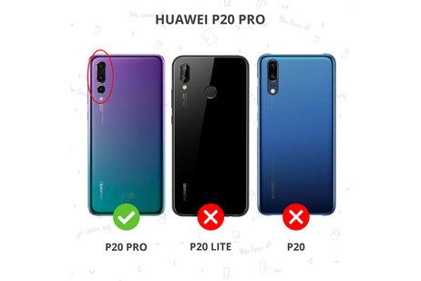 Schlankes Foliocase Schwarz Huawei P20 Pro