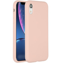 Accezz Liquid Silikoncase Rosa für das iPhone Xr