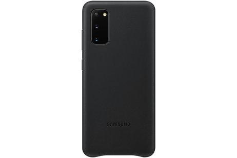 Samsung Galaxy S20 hülle - Samsung Leather Backcover Schwarz
