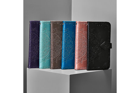 Alcatel 3X (2019) hülle - Mandala Booktype-Hülle Violett für