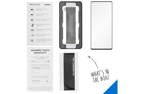 Accezz Glass Screenprotector + Applicator für das Samsung Galaxy A71