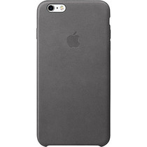 Apple Leder-Case Grau für das iPhone 6(s) Plus