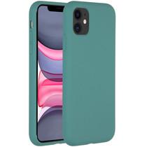 Accezz Liquid Silikoncase Dunkelgrün für das iPhone 11