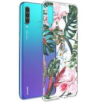 iMoshion Design Hülle Huawei P30 Lite - Dschungel - Grün / Rosa