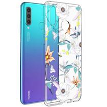 iMoshion Design Hülle Huawei P30 Lite - Blume - Weiß