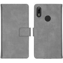 iMoshion Luxus Booktype Hülle Grau für Huawei Y6 (2019)