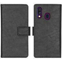 iMoshion Luxus Booktype Hülle Schwarz für das Samsung Galaxy A40