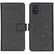 iMoshion Luxuriöse Buchtyp-Hülle Schwarz für Samsung Galaxy A51