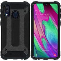 iMoshion Rugged Xtreme Case Schwarz für Samsung Galaxy A40