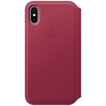 Apple Leather Folio Book Case Berry für das iPhone Xs / X