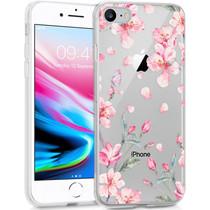 iMoshion Design Hülle iPhone SE (2020) / 8 / 7 / 6s - Blume - Rosa