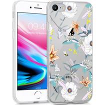 iMoshion Design Hülle iPhone SE (2020) / 8 / 7 / 6s - Blume - Weiß