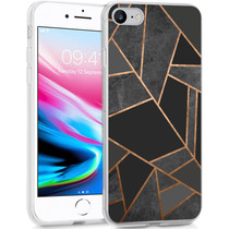 iMoshion Design Hülle iPhone SE (2020) / 8 / 7 / 6s - Grafik-Kupfer