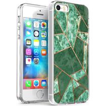 iMoshion Design Hülle iPhone 5 / 5s / SE - Grafik-Kupfer - Grün