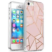 iMoshion Design Hülle iPhone 5 / 5s / SE - Grafik-Kupfer - Rosa