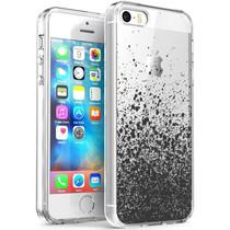 iMoshion Design Hülle iPhone 5 / 5s / SE - Spritzer - Schwarz