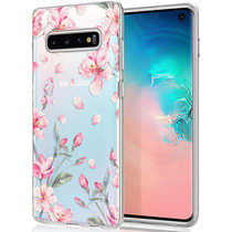 iMoshion Design Hülle Samsung Galaxy S10 - Blume - Rosa