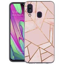 iMoshion Design Hülle Galaxy A40 - Grafik-Kupfer - Rosa / Gold