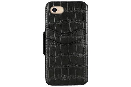 iDeal of Sweden Capri Wallet Handytasche für das iPhone SE (2020) / 8 /7 / 6(s) - Black Croco