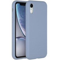 Accezz Liquid Silikoncase für das iPhone Xr - Lavender Gray