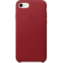 Apple Leder-Case für das iPhone SE (2020) / 8 / 7 - Red