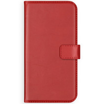 Selencia Echtleder Booktype Hülle Rot Samsung Galaxy A50 / A30s