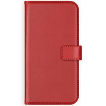 Selencia Echtleder Booktype Hülle Rot für Samsung Galaxy S9 Plus