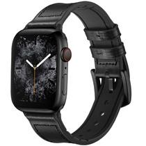iMoshion Echtes Lederband für das Apple Watch 42/44mm - Schwarz